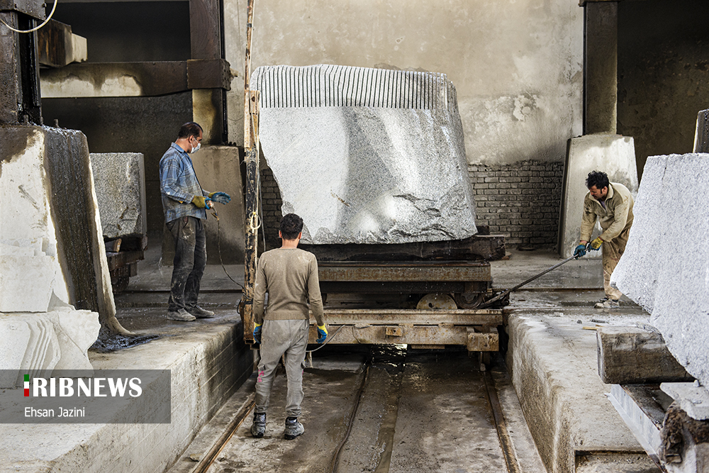 اصفهان قطب صنعت سنگ در ایران