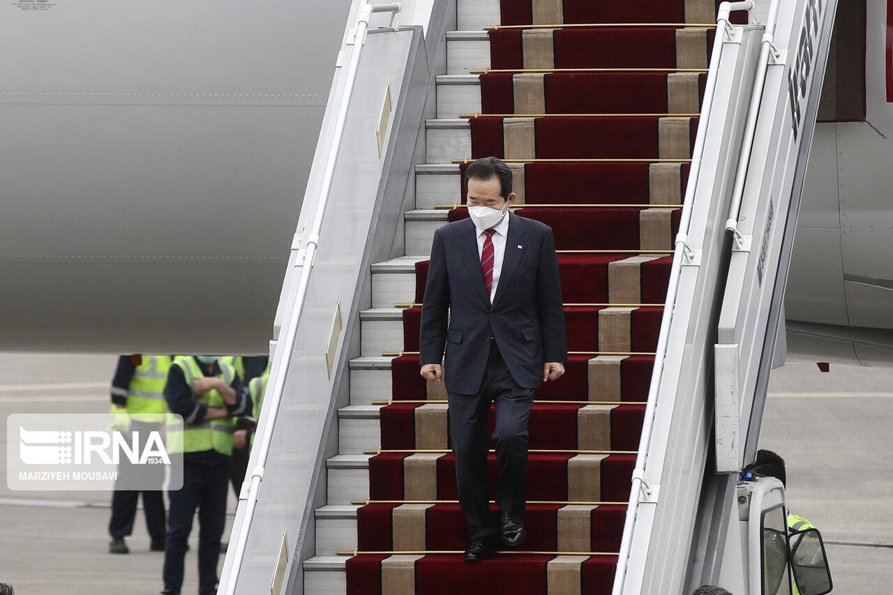عکس/ استقبال از نخست وزیر کره جنوبی در تهران