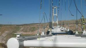 پیشرفت فیزیکی بیش از ۹۵ درصدی پل کابلی قزوین