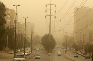 آلودگی شهرهای خوزستان در پی برخاستن گردوغبار