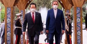 استقبال جهانگیری از نخست وزیر کره جنوبی در سعدآباد