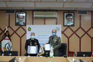 نیروی دریایی ارتش و سازمان جغرافیایی نیروهای مسلح تفاهمنامه همکاری امضا کردند