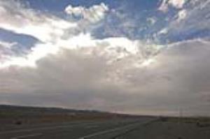 گذر امواج ناپایدار از آسمان استان قزوین