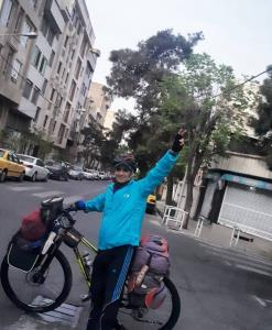 رکابزنی دوچرخه سوار سرخرودی از خزر تا خلیج فارس