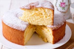 کیک ماست عالی با بافت نرم اسفنجی و پف زیاد