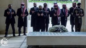 اولین حضور شاهزاده حمزه در کنار پادشاه اردن از زمان