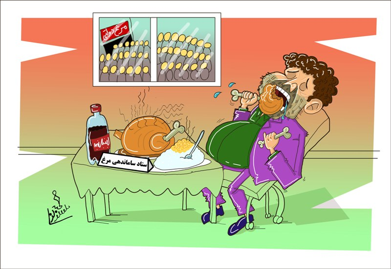 کاریکاتور/ ستاد ساماندهی مرغ!