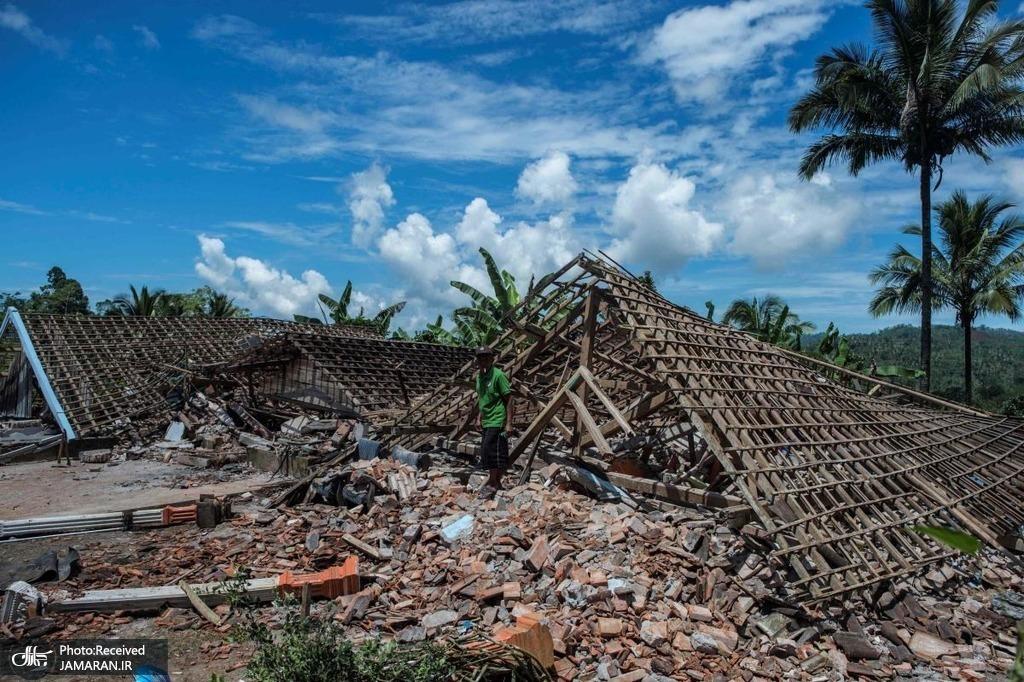آوارهای بهجامانده از زمینلرزهای جاوه اندونزی
