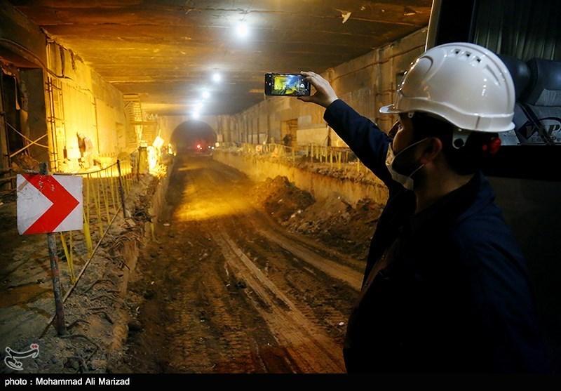 بازدید خبرنگاران از خط یک مترو قم