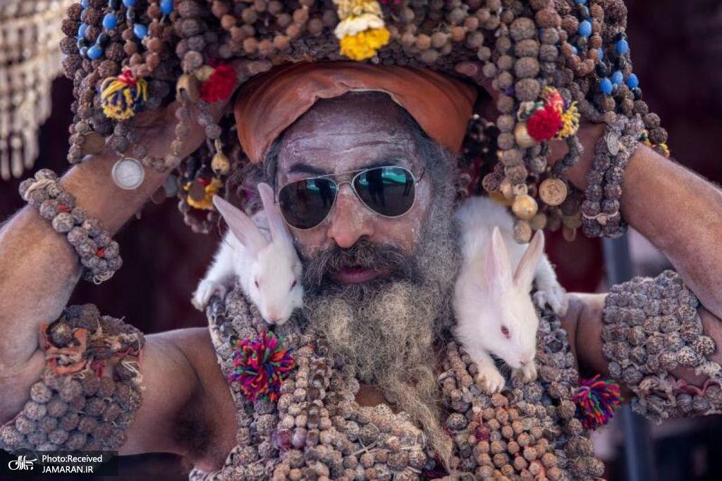 شمایل عجیب یک راهب هندی
