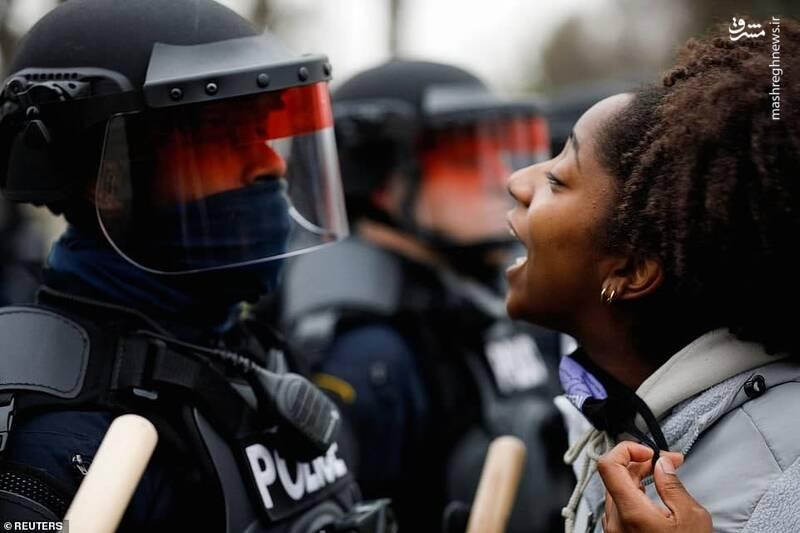 عکس/ آغاز دوباره اعتراضات به جنایت جدید پلیس آمریکا