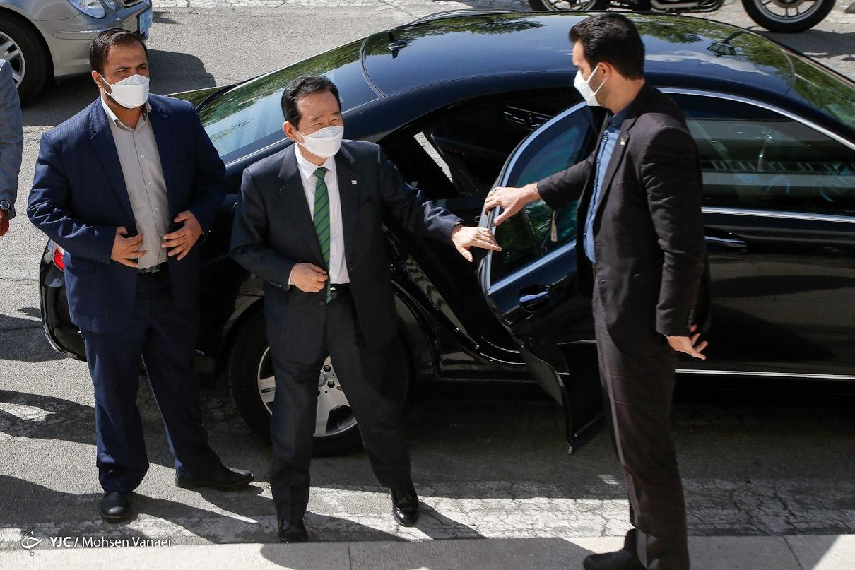 عکس/ دیدار نخست وزیر کره جنوبی با علی لاریجانی