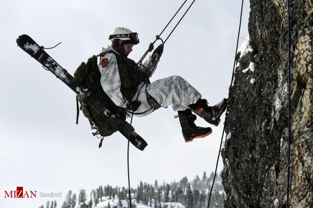 مسابقه کوهنوردی اسکی ارتشی روسیه