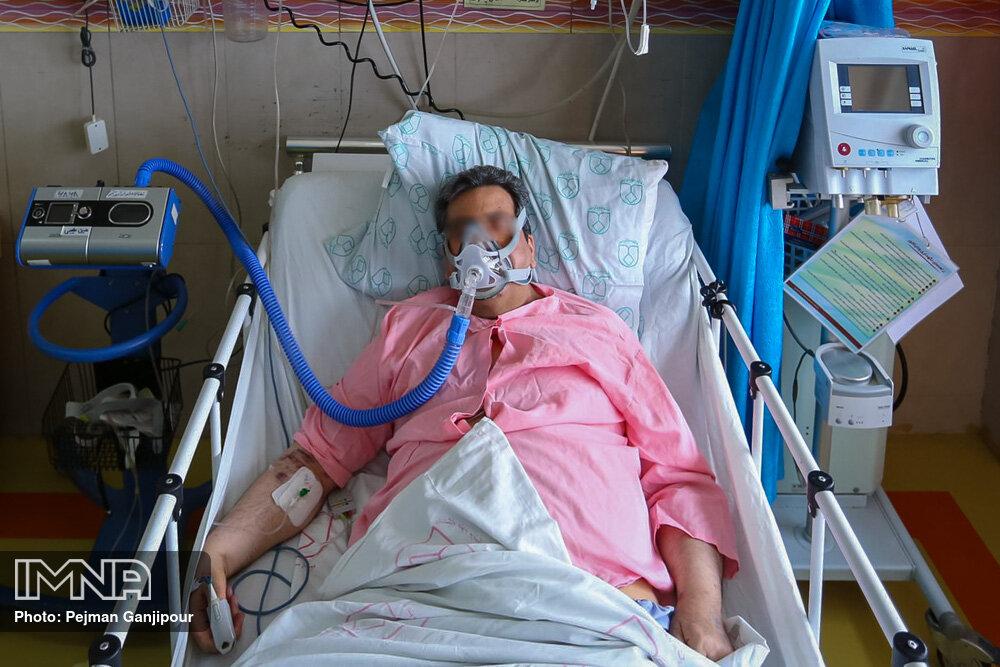 عکس/ بیماران کرونایی در بیمارستان الزهرا اصفهان