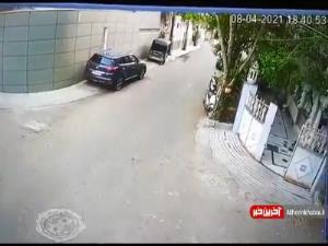 درگیری شدید بین دو راننده بخاطر یک تصادف