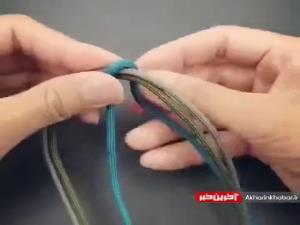 آموزش بافت دستبند ساده و جذاب