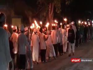 رژه مشعل در اندونزی برای استقبال از ماه مبارک رمضان