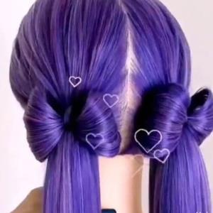 ترفند عالی برای بستن مو پاپیونی