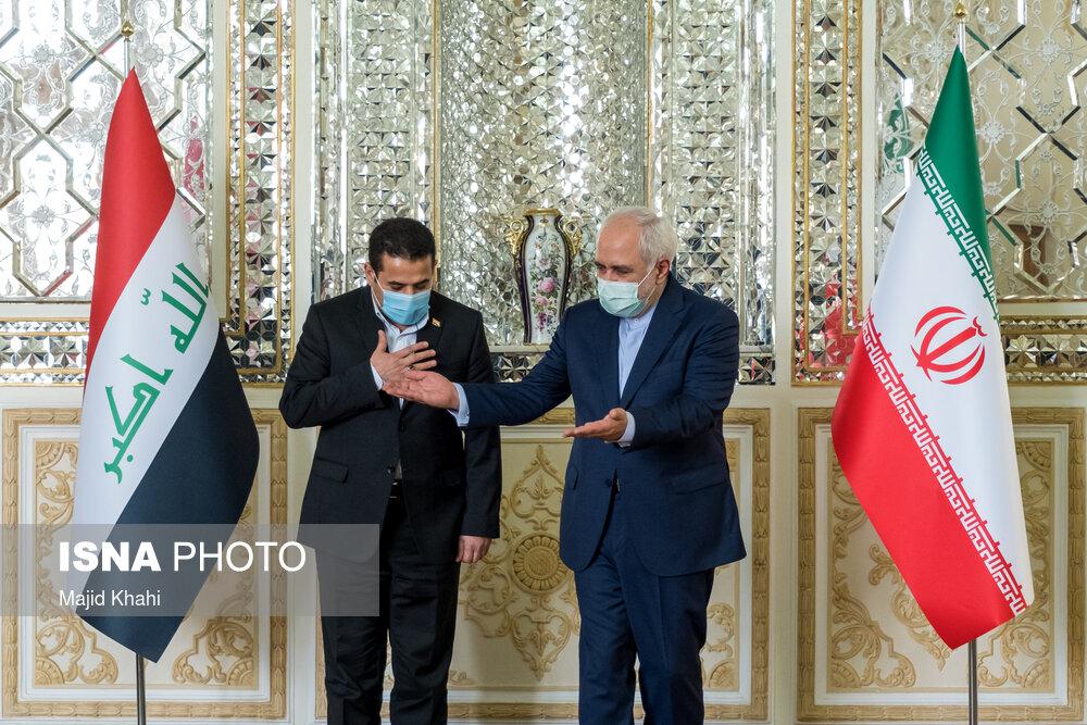 عکس/ دیدار مشاور امنیت ملی عراق با محمد جواد ظریف