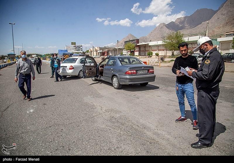 کنترل تردد پلاک غیربومی توسط پلیس راه کرمانشاه