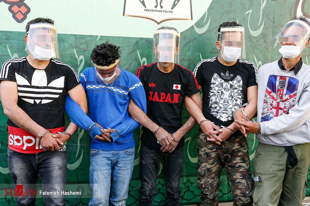 عکس/ دستگیری سارقان تهران در طرح رعد پلیس
