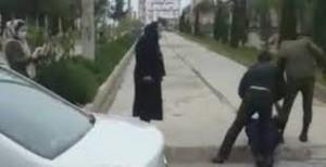 برخورد تند مامور نیروی انتظامی با یک جانباز  در بابلسر