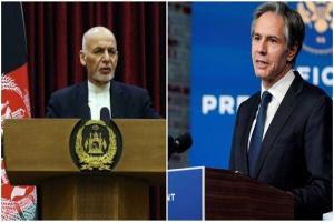 گفتگوی اشرف غنی و بلینکن درباره صلح افغانستان