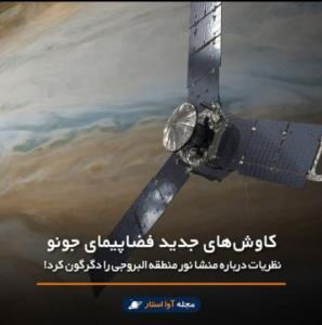 کاوشهای جدید فضاپیمای جونو، نظریات درباره منشا نور منطقه البروجی را دگرگون کرد