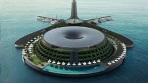ساخت هتل شناور در قطر که خودش تولید برق میکند!