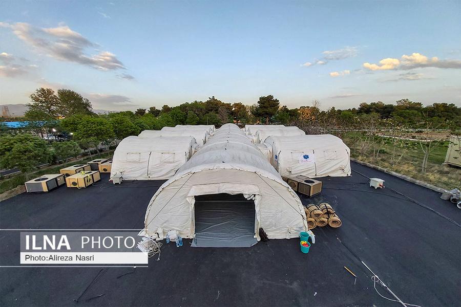 عکس/ راه اندازی بیمارستان صحرایی در استان قزوین