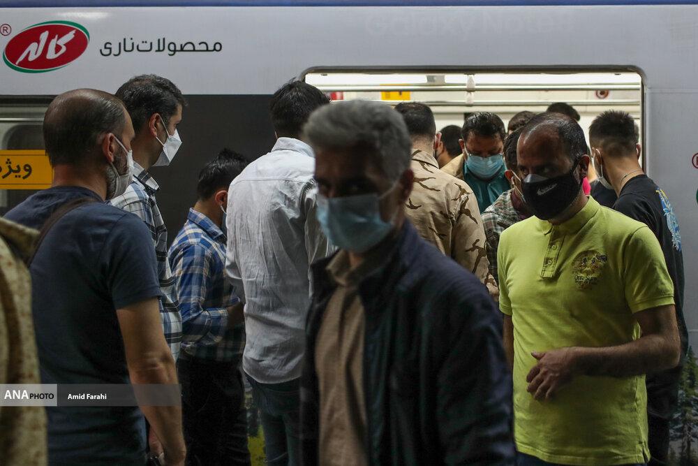 عکس/ مترو در روز های خطرناک تهران