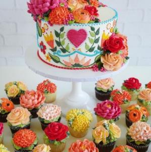 ترفند تزئین کاپ کیک های گل گلی