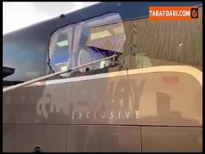 حمله به اتوبوس رئالمادرید در راه ورزشگاه آنفیلد!