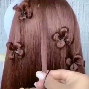 آموزش ترفند شکوفه های بهاری روی مو