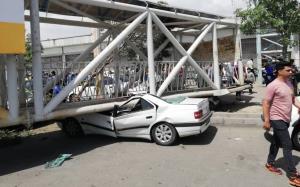 سقوط پل هوایی 3 نفر را راهی بیمارستان کرد