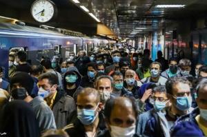آتش سوزی در ایستگاه مترو قیطریه تهران