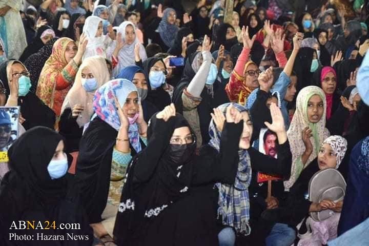 تحصن پاکستانی ها در اعتراض به ناپدید شدن شیعیان