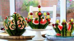 شاهکار میوه آرایی با هندوانه