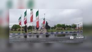 طراوت نخستین باران بهاری در کرمان