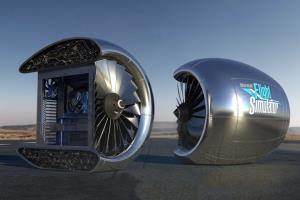 کامپیوتر مایکروسافت با طراحی موتور هواپیما به یک نفر هدیه داده میشود