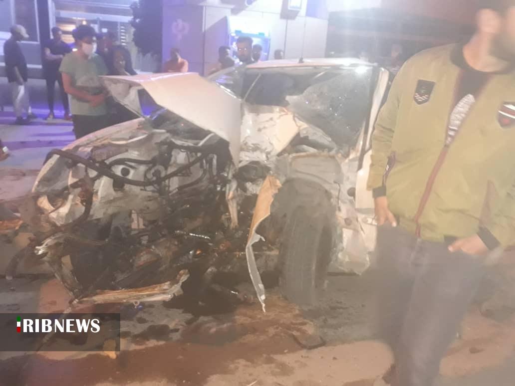 نجات معجزهآسای ۲ راننده در تصادف رانندگی