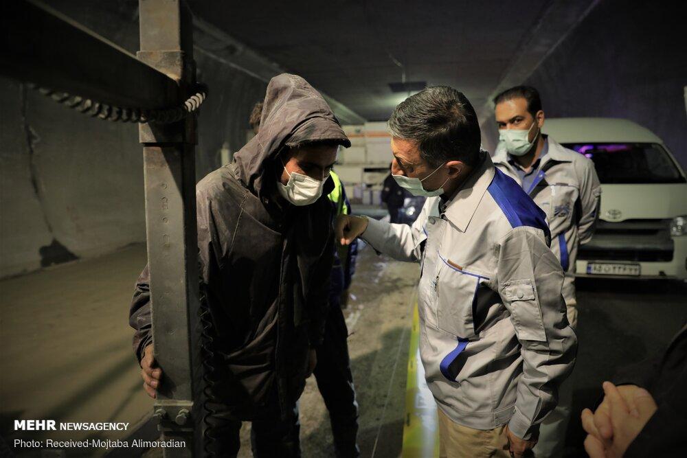 بازدید نوبخت و فتاح از از منطقه ۲ آزادراه تهران- شمال