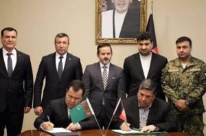 طرح امنیتی پروژه «تاپی» بین افغانستان و ترکمنستان امضاء شد