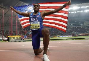 کاهش دوران محرومیت قهرمان دوی ۱۰۰ متر جهان