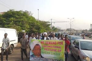 تظاهرات اعتراضآمیز طرفداران شیخ زکزاکی در نیجریه