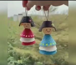 آموزش عروسک سازی با شانه تخم مرغ