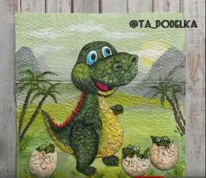 ایده زیبا و جذاب کلاژ دایناسور