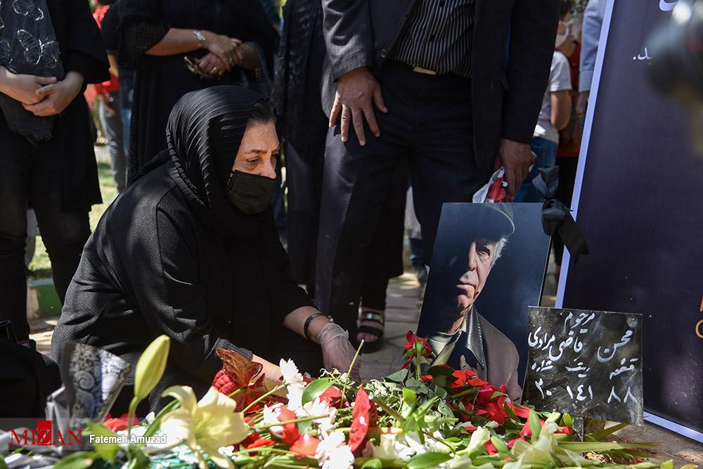 عکس/ مراسم تشییع و خاکسپاری مرحوم «محسن قاضی مرادی»