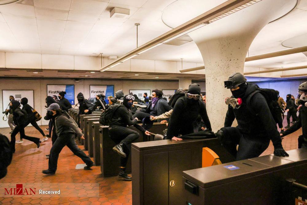 عکس/ موج جدید تظاهرات و آشفتگی در آمریکا