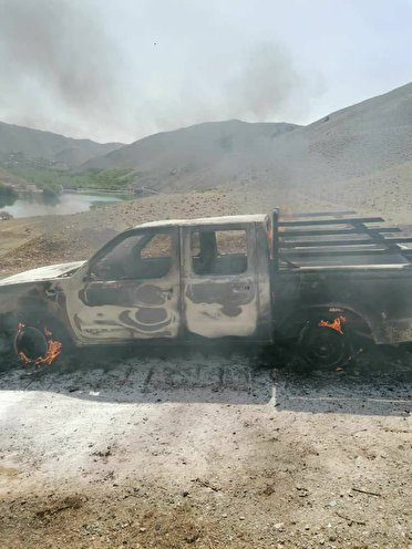 آتشزدن خودروی پیمانکار طرح انتقال آب بن_بروجن